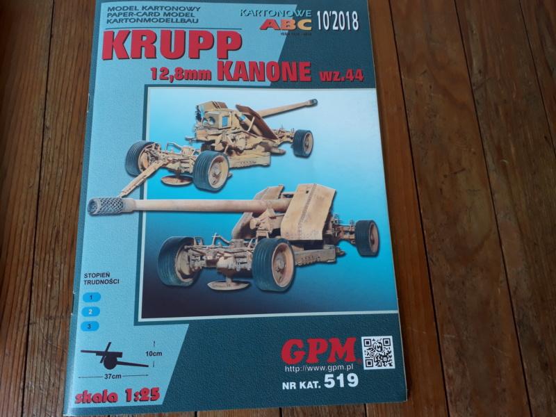 Fertig 12,8 cm Kanone-Krupp,Maßst. 1:25 geb. v. Henning 20180511