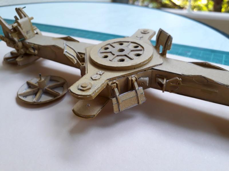Fertig 12,8 cm Kanone-Krupp,Maßst. 1:25 geb. v. Henning 20181027