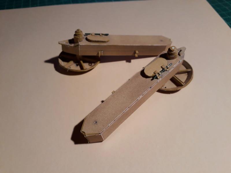 Fertig 12,8 cm Kanone-Krupp,Maßst. 1:25 geb. v. Henning 20181029