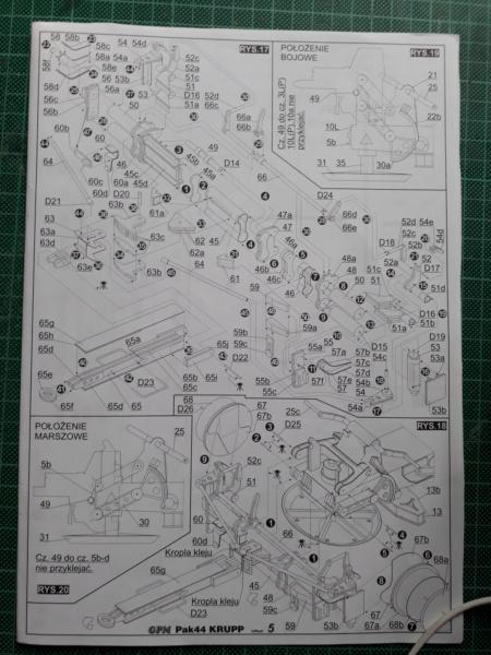 Fertig 12,8 cm Kanone-Krupp,Maßst. 1:25 geb. v. Henning 20181033