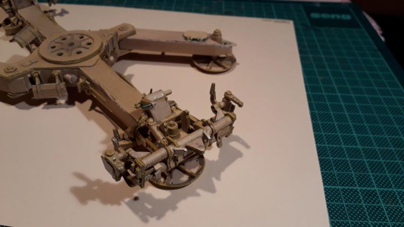 Fertig 12,8 cm Kanone-Krupp,Maßst. 1:25 geb. v. Henning 20181045