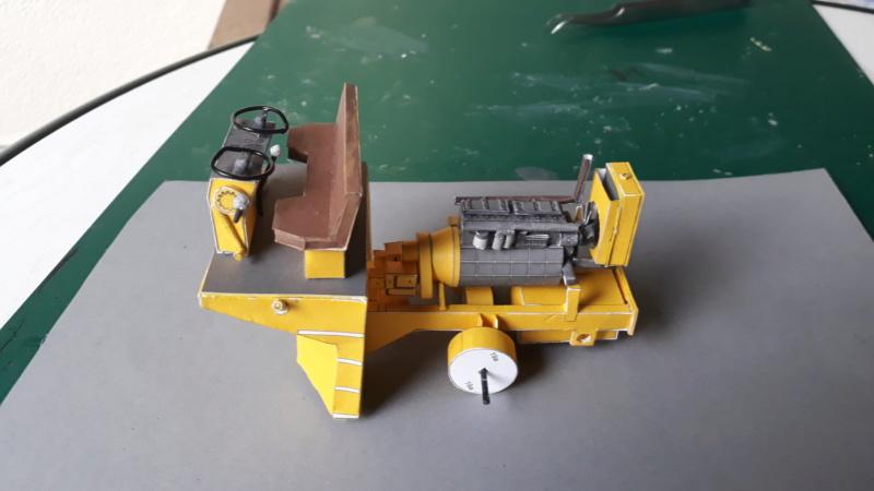 Kranwagen mit Tieflader u. Straßenwalze,1:32 geb. v. Henning 20190811