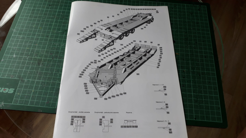 Kranwagen mit Tieflader u. Straßenwalze,1:32 geb. v. Henning 20190827