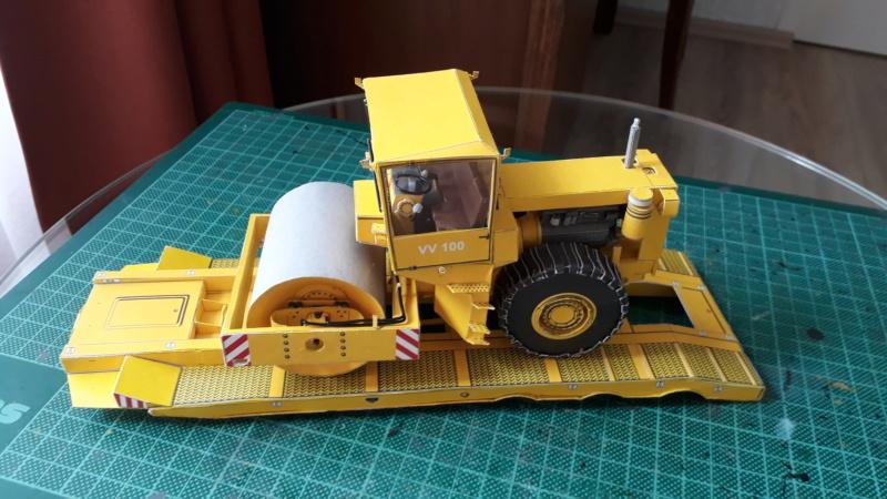 Kranwagen mit Tieflader u. Straßenwalze,1:32 geb. v. Henning 20190836