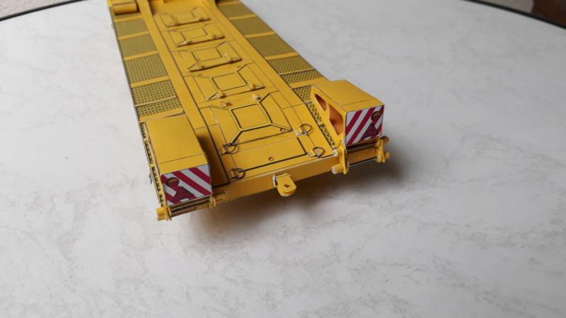 Kranwagen mit Tieflader u. Straßenwalze,1:32 geb. v. Henning 20190851