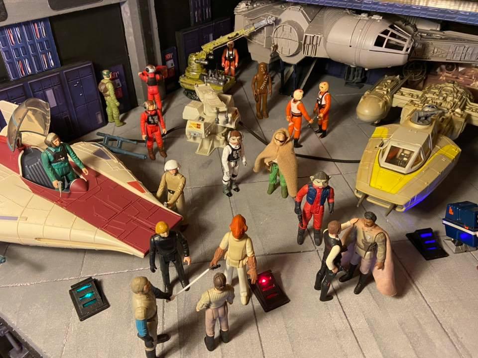 Making of hangar star wars vintage  237