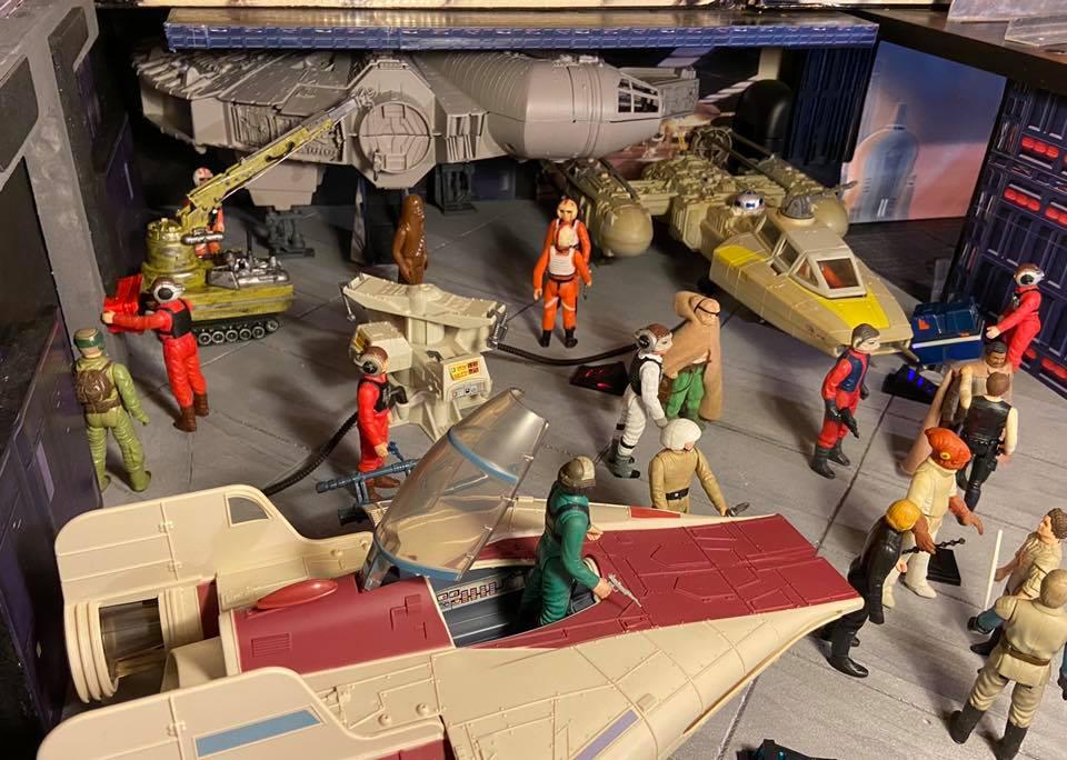 Making of hangar star wars vintage  520