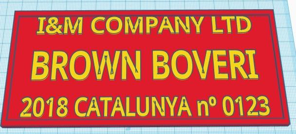 Brown Boveri vascongados a escala G Placa_10
