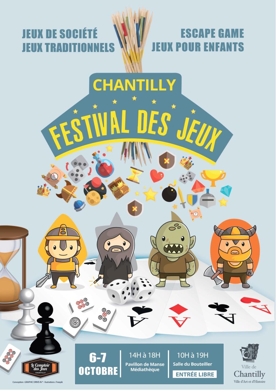 Festival des jeux de société de Chantilly les 6 et 7 octobre 2018 Affich10
