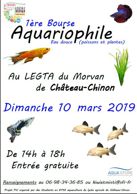 1ère bourse aquariophile de Château-Chinon le 10 mars 2019 Affich10