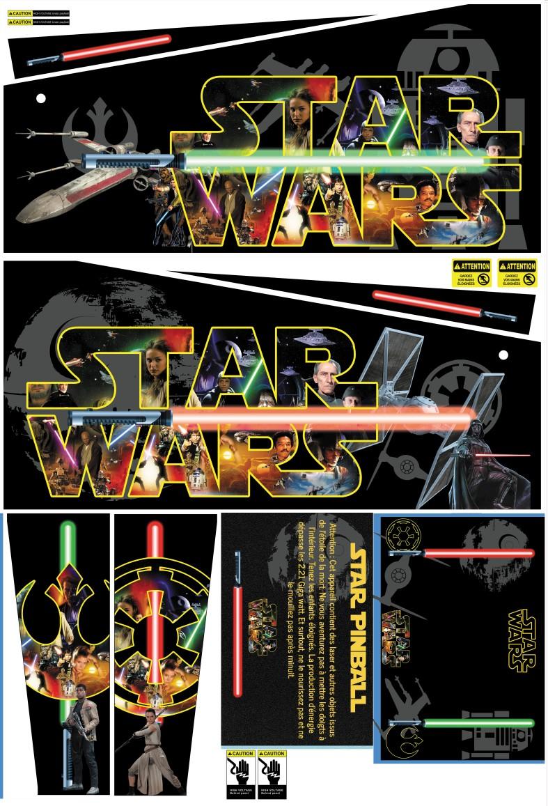 """[WIP] 80% Pincab 40"""" Star Wars MAJ 18/01/2021 Deco10"""