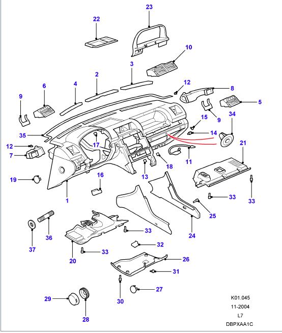 Grille aération intérieur tableau de bord Tablea10