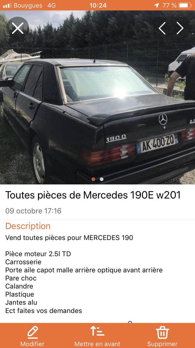PIÈCE DE 190 2.5l TD W201 F7d9aa10