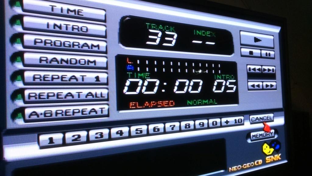 neogeo cd les jeux se lance pas mais la lentilles marche. mission complète j'ai réussi ;) Dsc_0929
