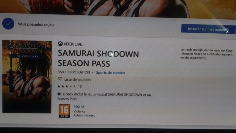 samurai spirits ou shodown 2019 ps4 xboxone ( switch pc ?) gameplay et New trillers  - Page 5 Dsc_1304