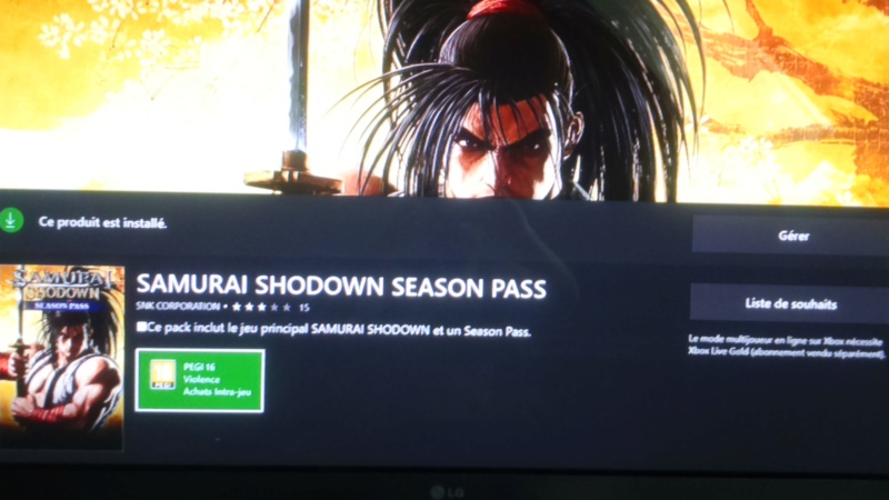 samurai spirits ou shodown 2019 ps4 xboxone ( switch pc ?) gameplay et New trillers  - Page 5 Dsc_1306
