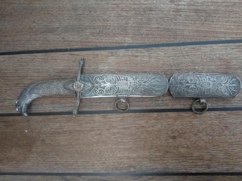 poignée et pièce sabre napoléonien à l'orientale Img_2048