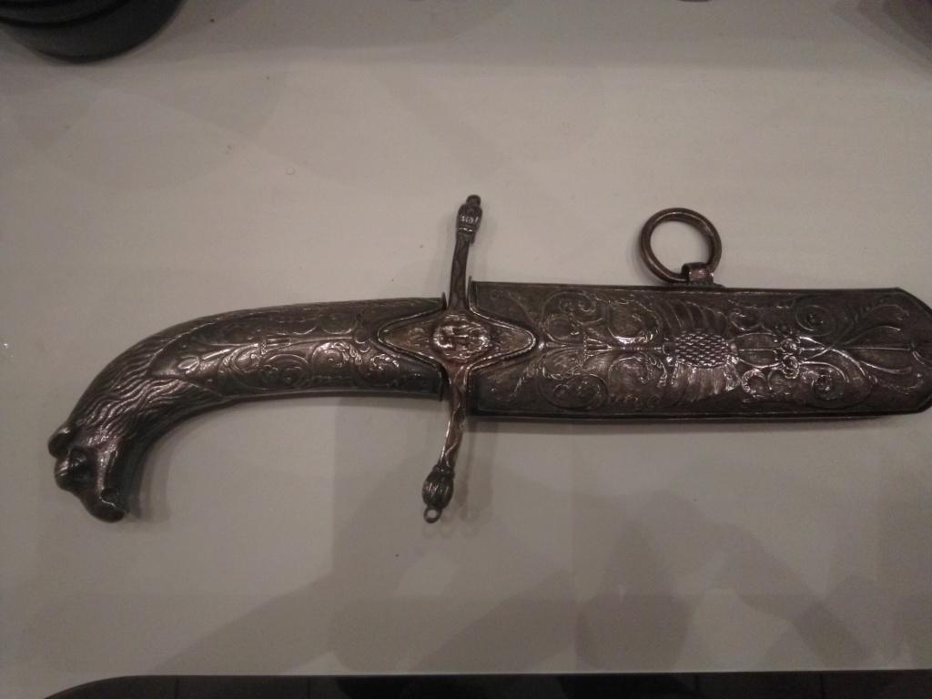 poignée et pièce sabre napoléonien à l'orientale Silb10
