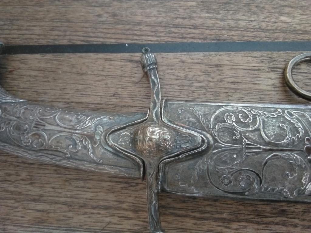 poignée et pièce sabre napoléonien à l'orientale Silbo10