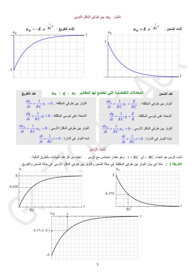 دراسة الظواهر الكهربائية - الوحدة 03 في الفيزياء - 3 ثانوي رياضي، تقني رياضي، علوم تجريبية BAC 3AS U3b-0310