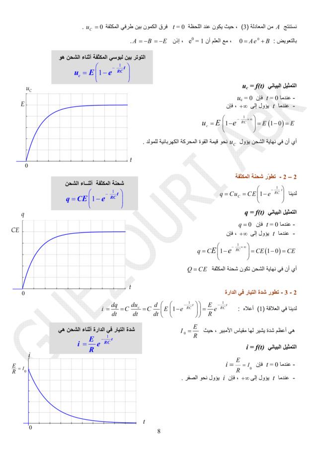 دراسة الظواهر الكهربائية - الوحدة 03 في الفيزياء - 3 ثانوي رياضي، تقني رياضي، علوم تجريبية BAC 3AS U3b-0810