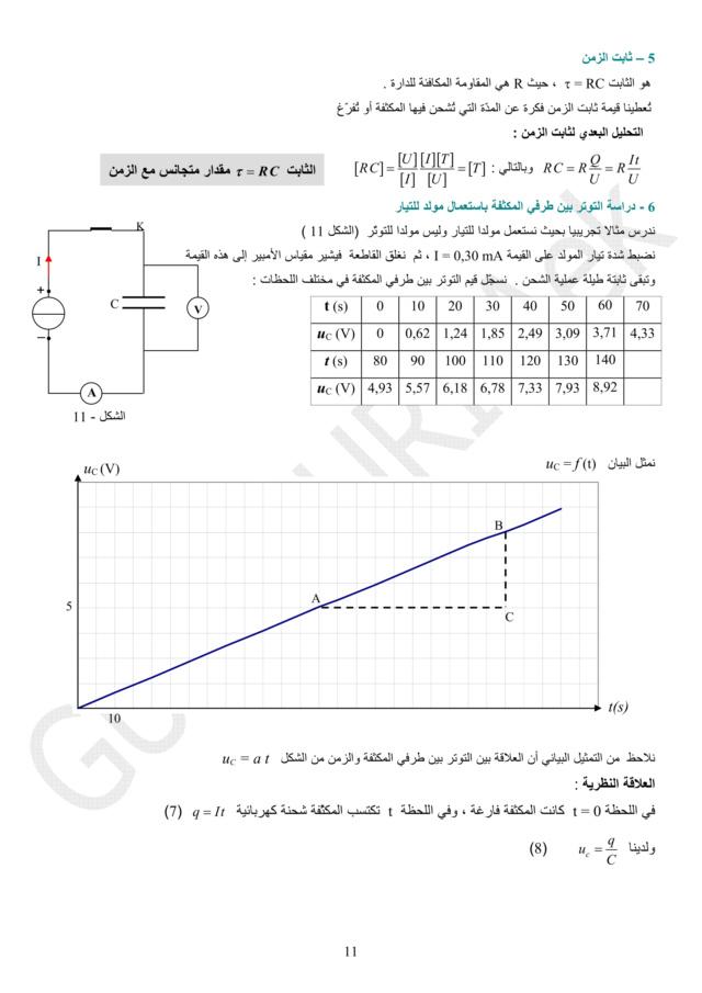 دراسة الظواهر الكهربائية - الوحدة 03 في الفيزياء - 3 ثانوي رياضي، تقني رياضي، علوم تجريبية BAC 3AS U3b-1110