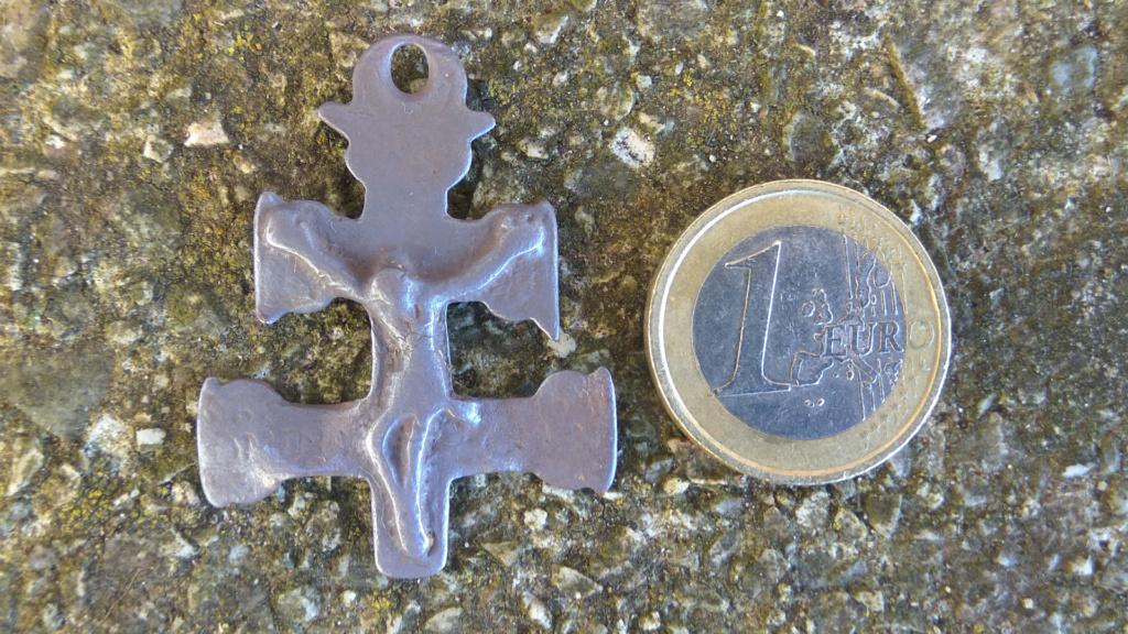 Fragmento Cruz de Caravaca bifaz con Inmaculada , S. XVII 416
