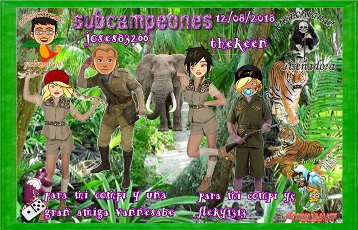 TORNEO DOMINO CAMPEONES ALMAYA26653 Y MANOLOG28728  SUBCAMPEONES THEKEEN Y JOSES83266 FINALISTAS JOSEMAPE Y DOZZE  12/08/2018 11603111