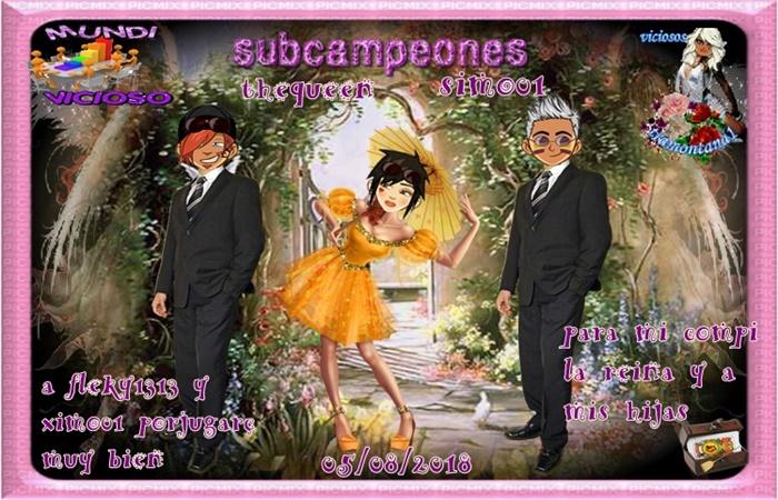 TORNEO DE DOMINO CAMPEONES SUSANAJ17280/93 Y MIGUELL8500 SUBCAMPEONES THEQUEEN Y XIMO01  PACO45  Y SINCODIGOS  05/08/2018 258t0u10