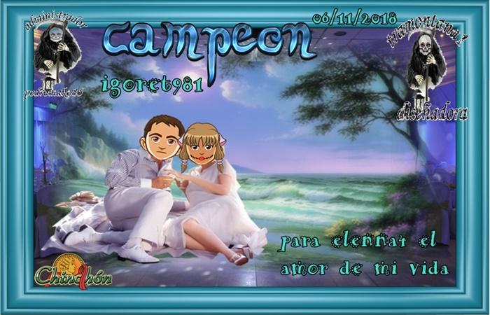 TORNEO CINCHON CAMPEON IGORET981  SUBCAMPEONA TEREOJEDA  FINALISTA VAMPIRIMM  06/11/2018 4d059511