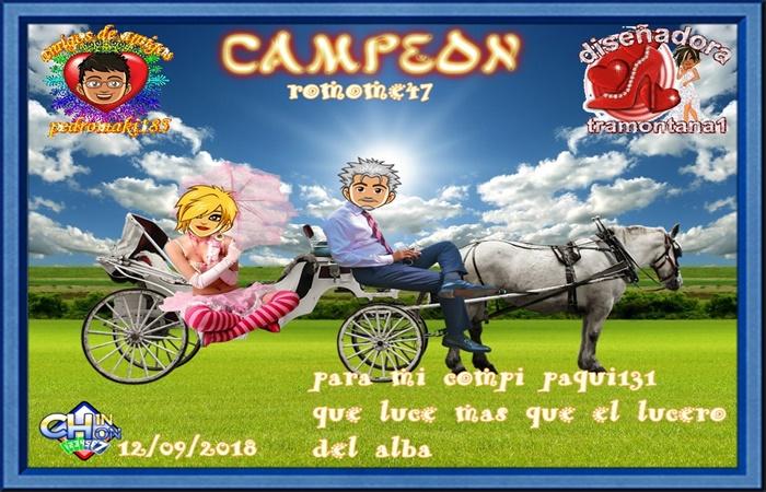 TORNEO DE CHINCHON CAMPEON ROMOME47 SUBCAMPEONA PECHINA1  FINALISTA BICHO 1945  12/09/2018 Campo10