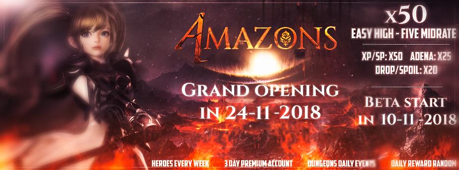 L2 Amazons Beta Open in 10-11-2018! Covero10