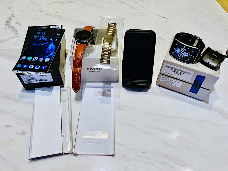Samsung Note 10+, Fossil Smartwatch, Samsung Gear S, Accessories++ Img_1910