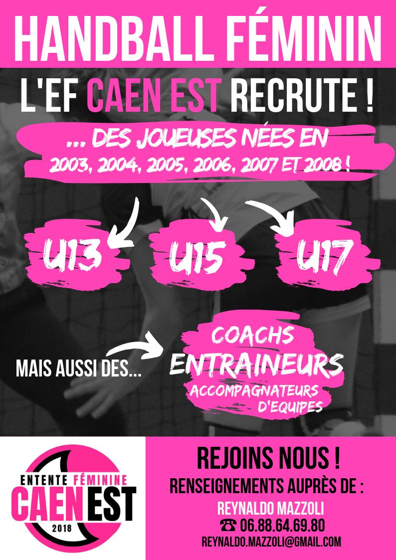 L'EF Caen Est recrute des jeunes filles U13, U15 et U17! 2cd45e10