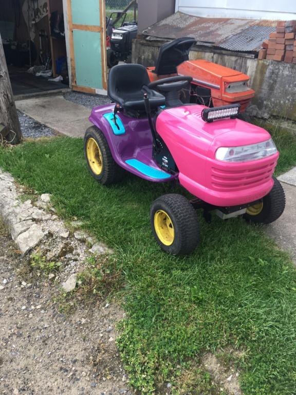 The JoJo Siwa tractor! Img_3116