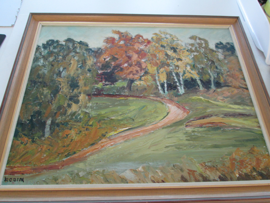 OIL ON BOARD LANDSCAPE SCENE SIGNED ROBIN Img_0012