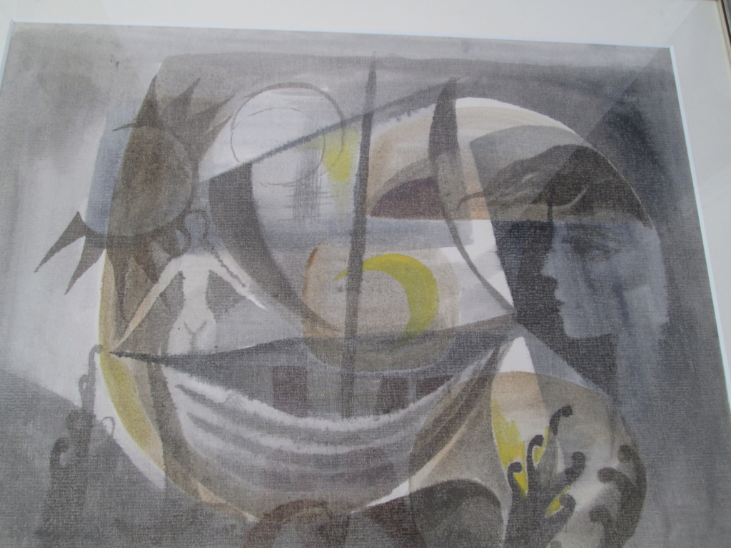 1960s ABSTRACT PAINTING SIGNED GORDON Img_0519