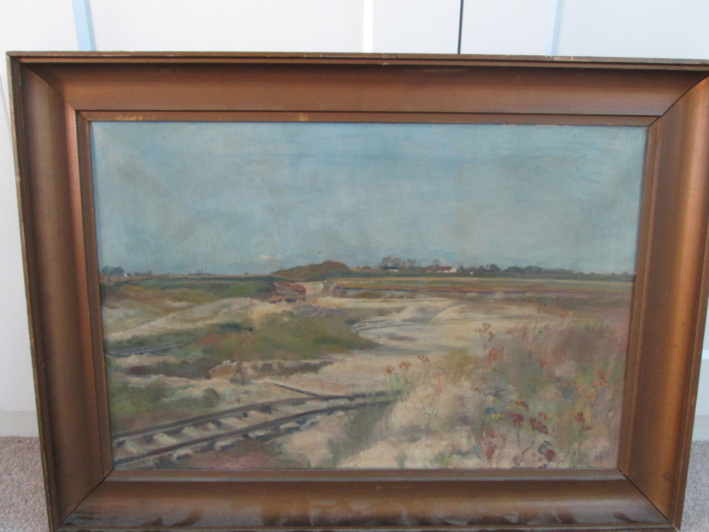 Antique Oil Landscape Painting Signed FENDI / FENDO / FERIDO Img_1115