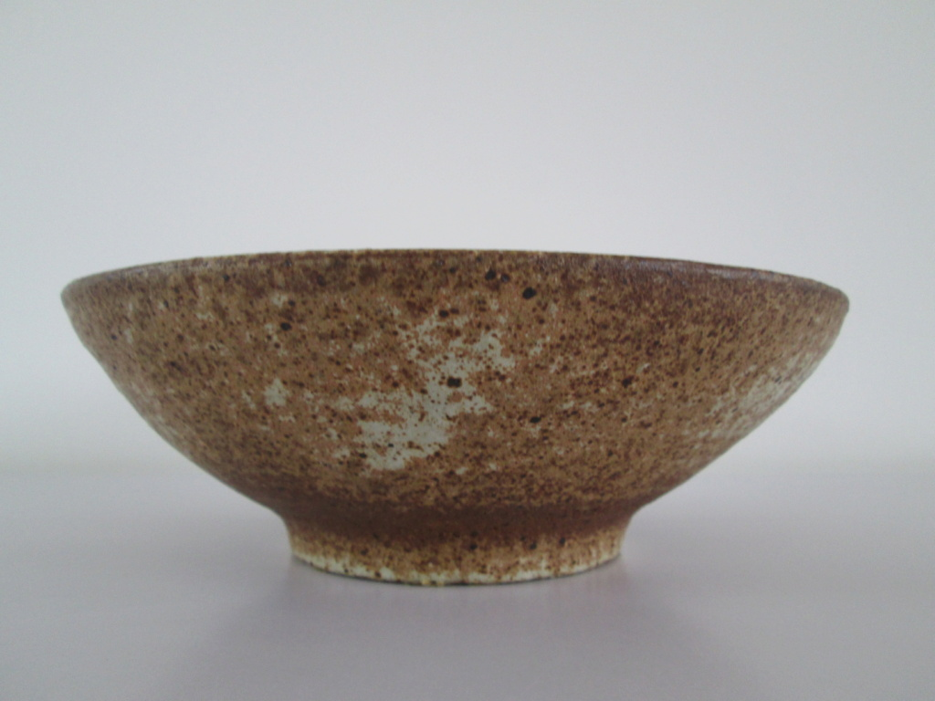 AFRICAN TREE STYLE PATTERN BROWN POTTERY BOWL SIGNED MONOGRAM PL DL LP LD Img_1819
