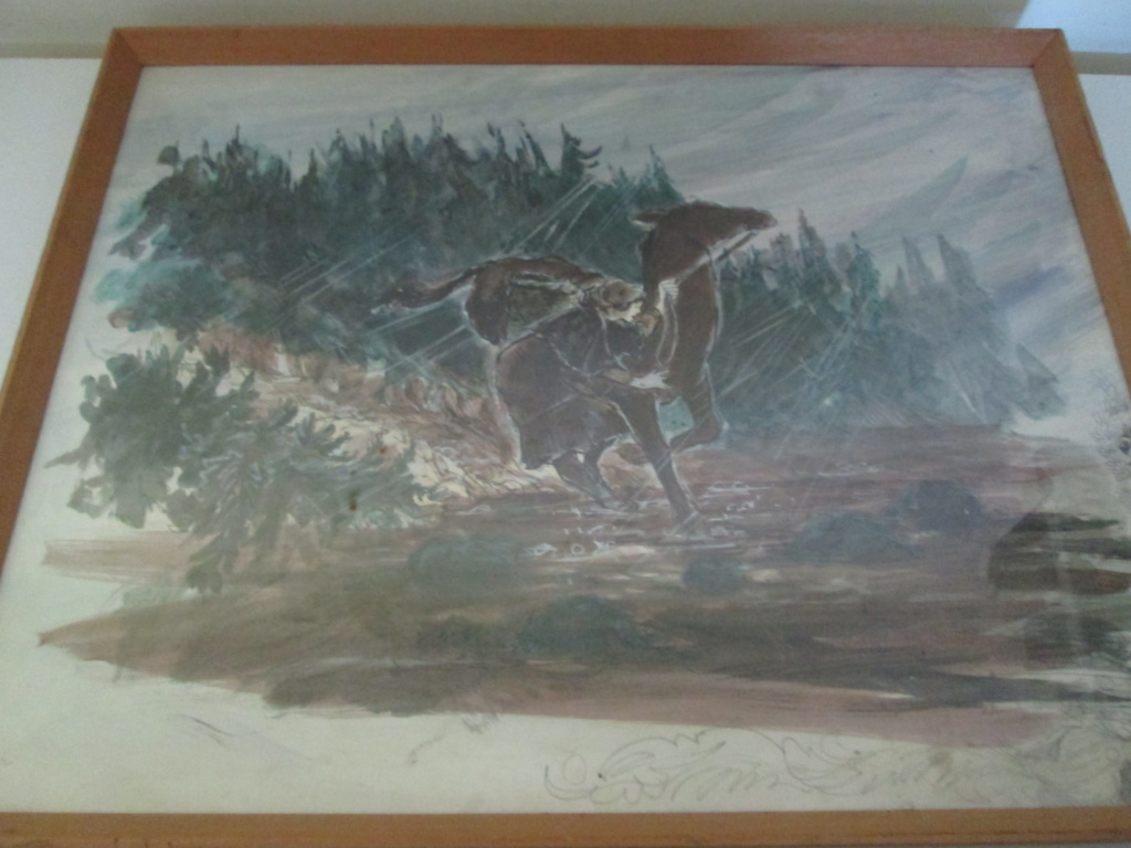 Please help ID Painting GIRL WITH HORSE SIGNED RUSH BBC?  Img_4910