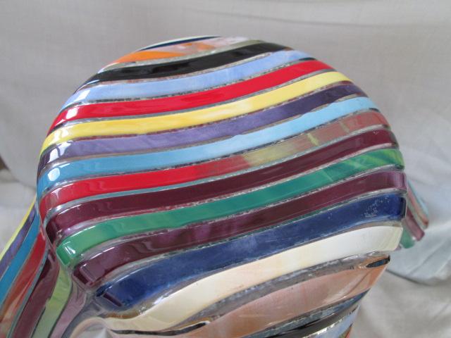 Striped Handkerchief Glass Vase Signed Merino Molino? Please help ID Img_8010