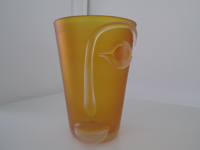 """Art Glass FACE with EYE LIPS & Nose -   """"Visage Range"""" by Blowzone glass Img_8913"""