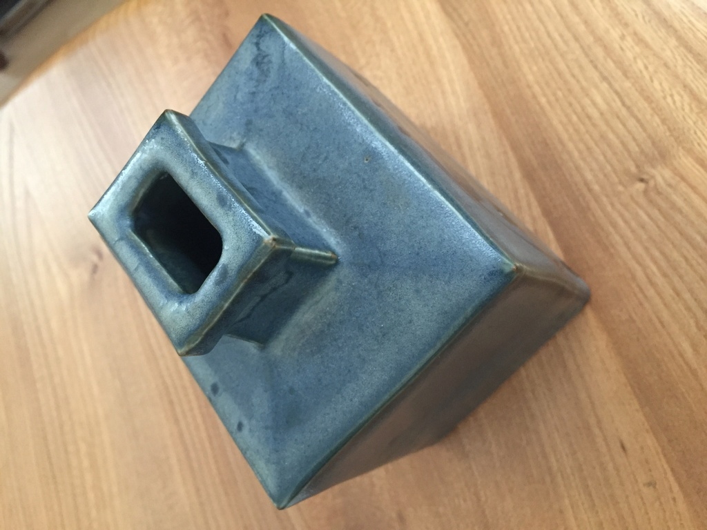 Rectangular blue vase Hamada like 2cd0f010