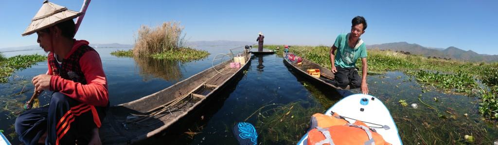 Session SUP avec les pêcheurs du lac Inle de Birmanie Dsc_0112