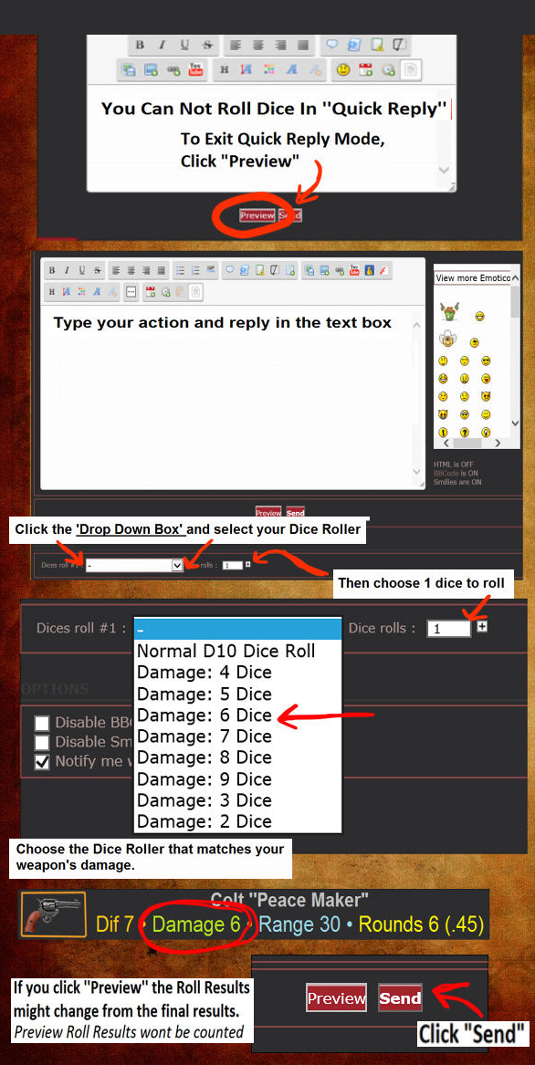 How to roll use the Dice Roller & Apply Weapon Damage Dicech11