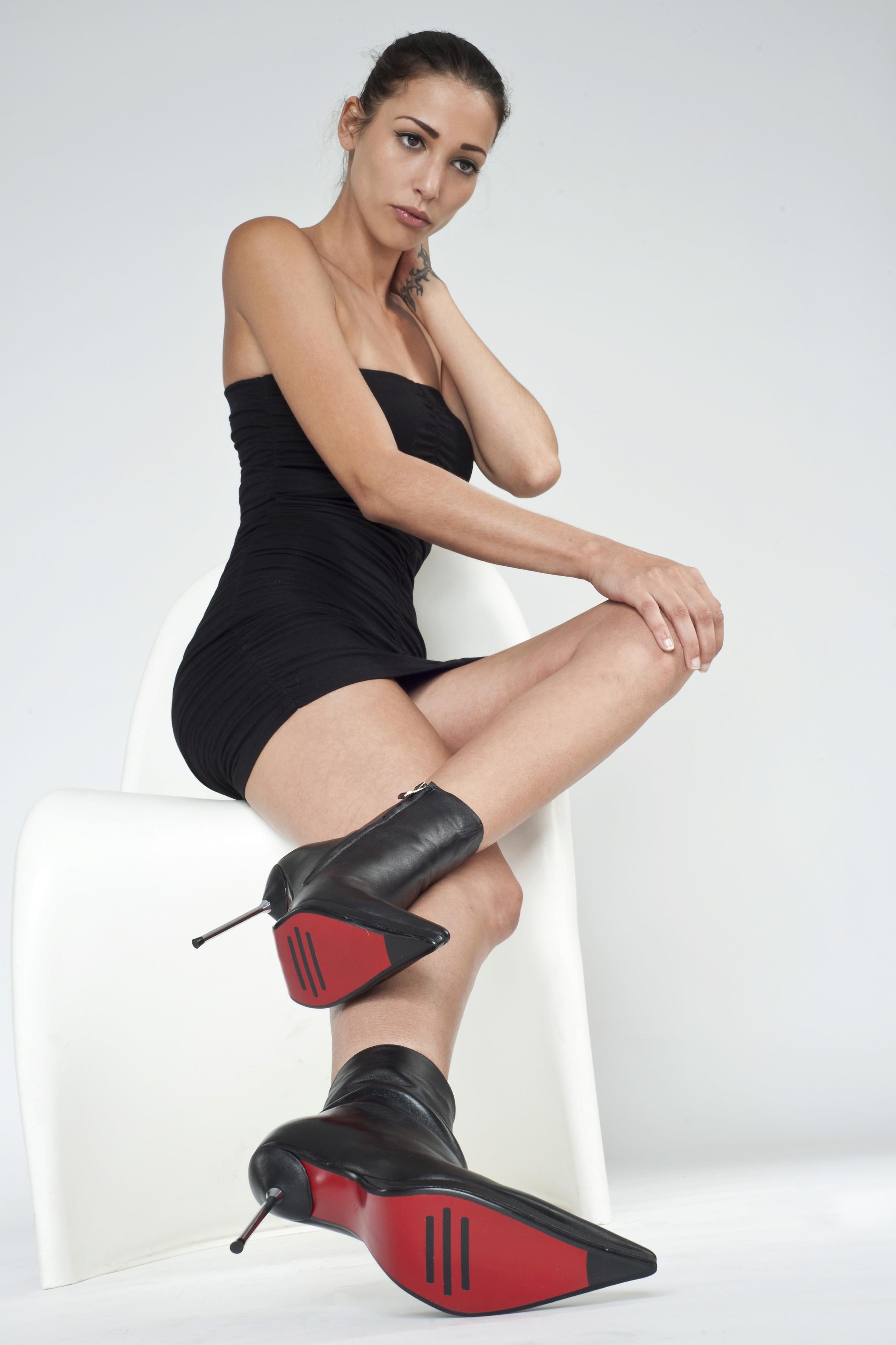 Arollo Leather Heeled Boots Arollo10