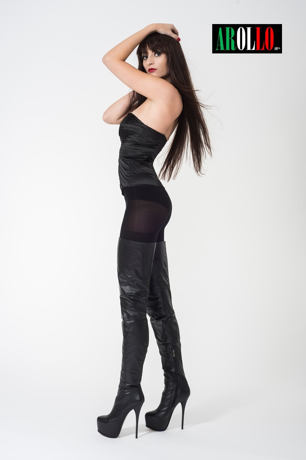 Arollo Leather Heeled Boots Vaness13