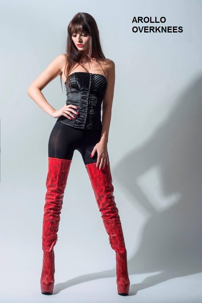 Arollo Leather Heeled Boots Vaness14