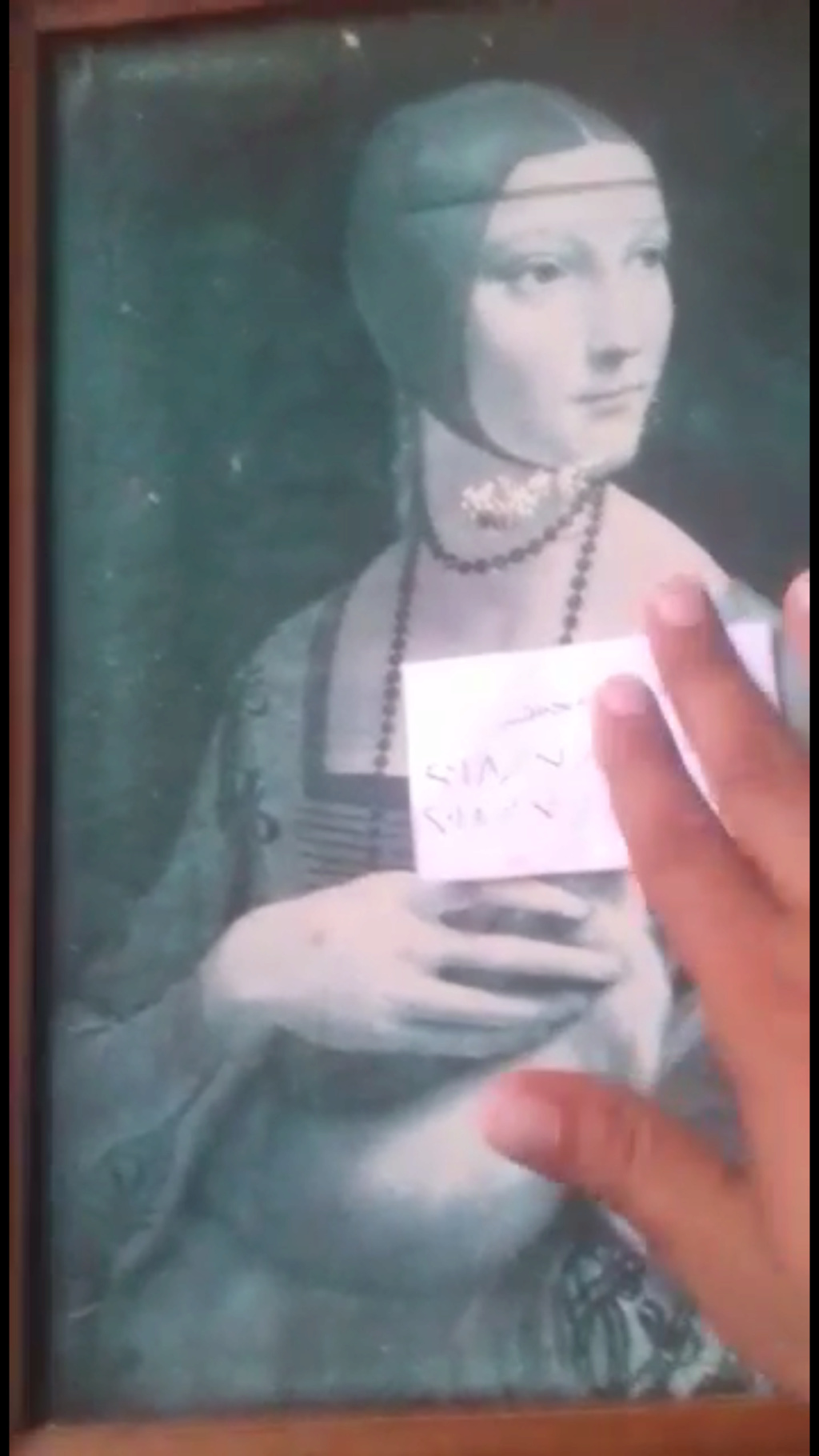 لوحة السيدة والقاقم ليوناردو دافنشي ١٤٩٠ للجادين فقط 4a593b10