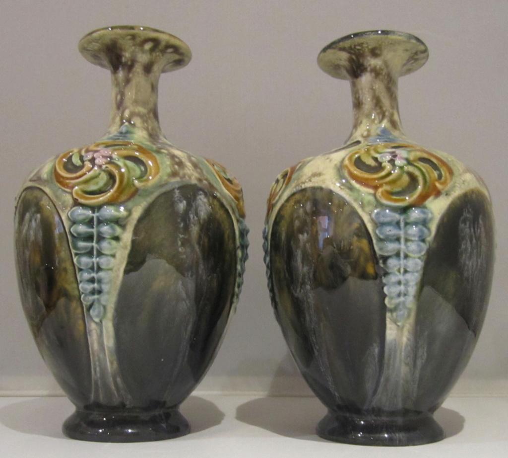 Doulton Lambeth style Art Nouveau vases Img_6813